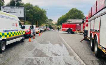 Patients evacuated from Johannesburg hospital as fire blazes
