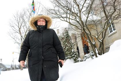 South Africans living in Canada brave the snow to register for upcoming elections