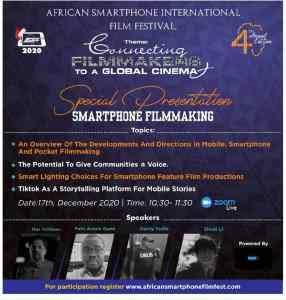 Smartphone filmmaking presentation - African Smartphone International Film Festival