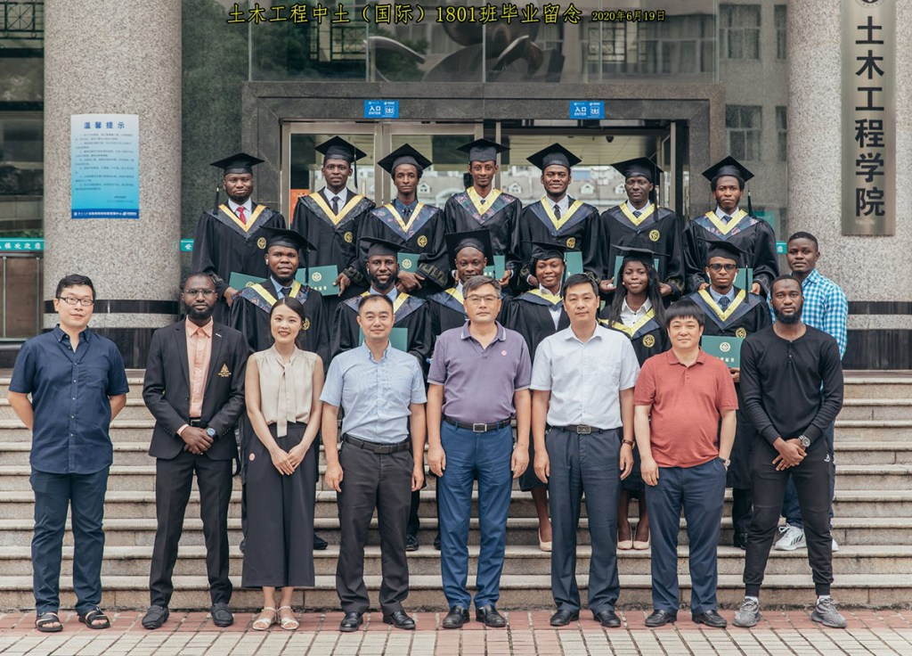 Graduating class of Nigerian engineers in China