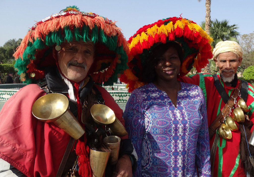 colorful moroccan hats