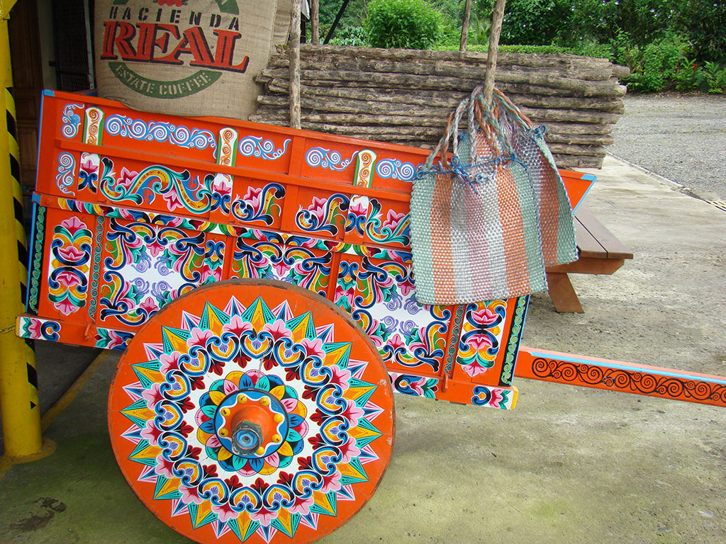 costa rica decorated cart