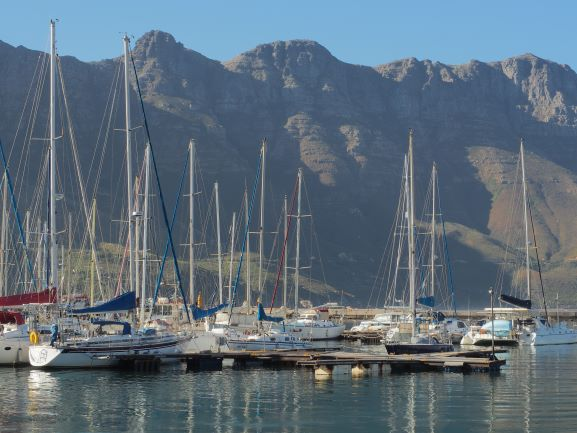 sailboats, marina, waterfront, south africa