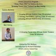 Cover for AVSA Convention Programs with photos of two speakers