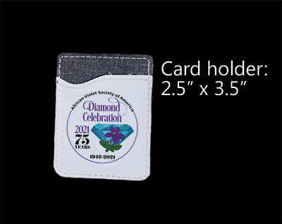 "Card Holder with AVSA 75th Anniversary Logo 2.5"" x 3.5"""