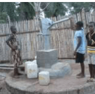 Pump on well in Liberia Nimba
