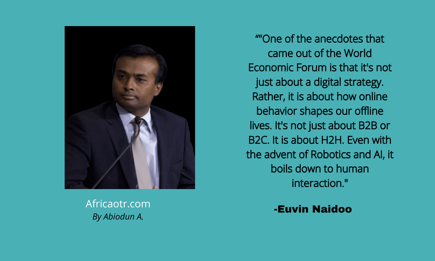 Euvin Naidoo South Africa