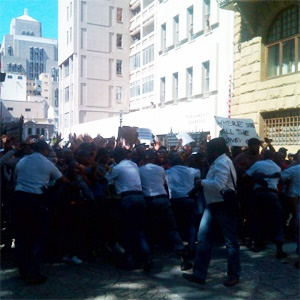 South Africa: Protesting Students Break Through Parliament Gates