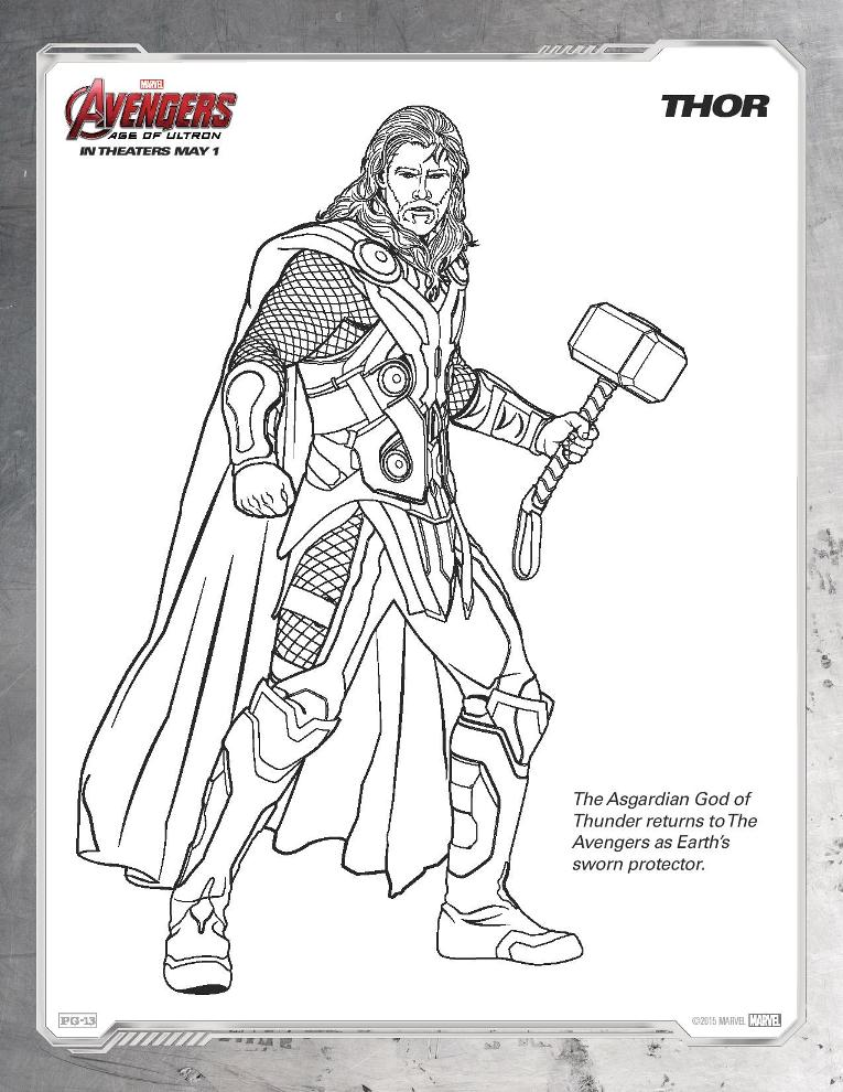 Avengers Age Of Ultron Coloring Sheets Get Yours NOW