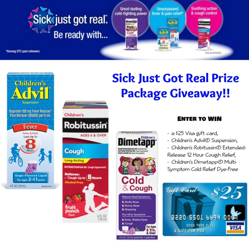 Pfizer Pediatric Products Prize Package Giveaway #SickJustGotReal