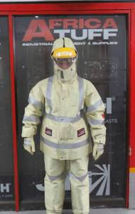 water blasting safety suit