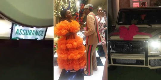 Birthday gift: Lawmaker gives wife G-Wagon with number plate 'Assurance'