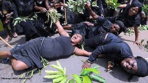 Meet Professional mourners in Ghana who cry at funerals of strangers