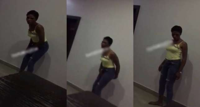 Prostitute disgraces customer in Akure hotel after he refuses to pay her [watch video]