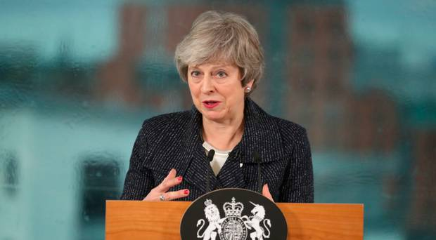 British PM May lands in Brussels over Brexit demand