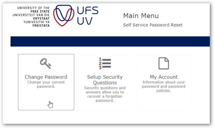ufs change password