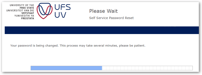 ufs password change process