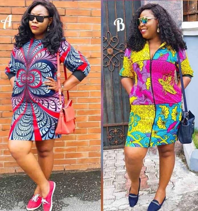 african print straight dress fashion