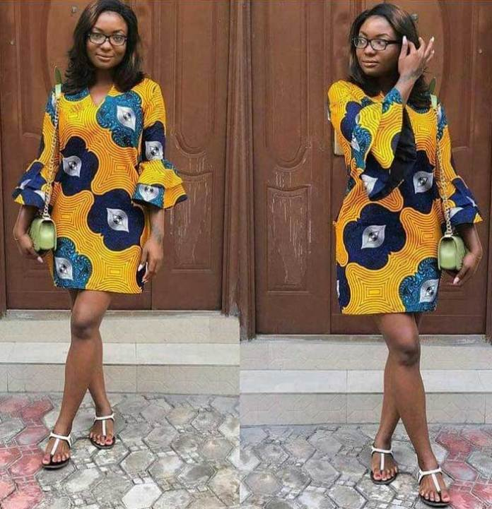 African print with sandals