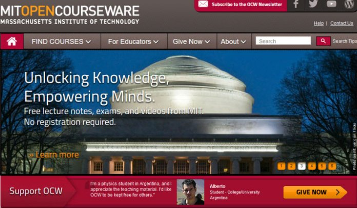 MIT open courseware website