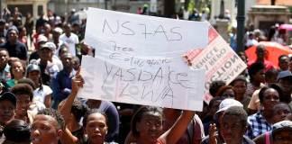unisa students protest