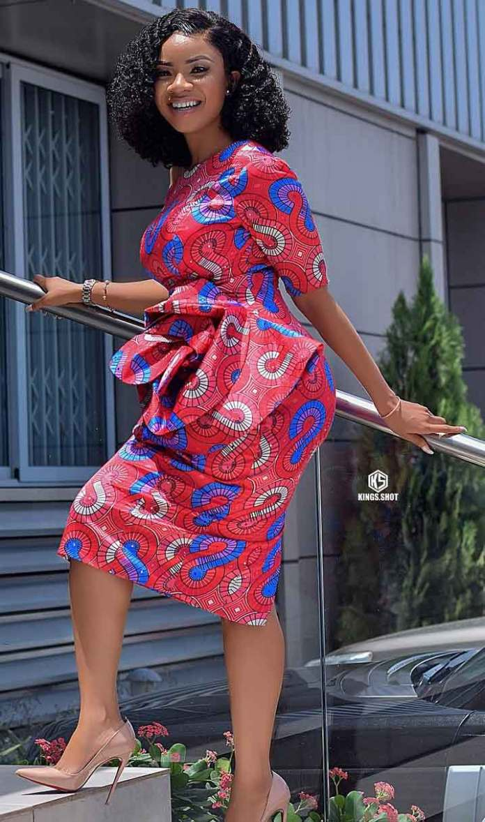 Serwaa Amihere in african outfit