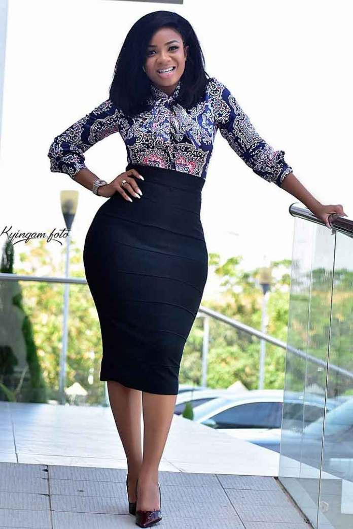 Top and skirt office wear
