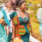 African dress, Kente wedding dress with beads