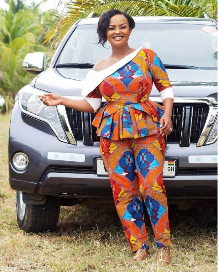 Nana Ama Mcbrown in African prints