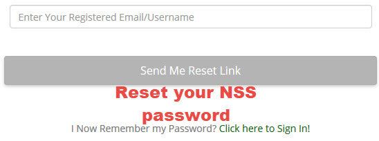 Nss password reset page