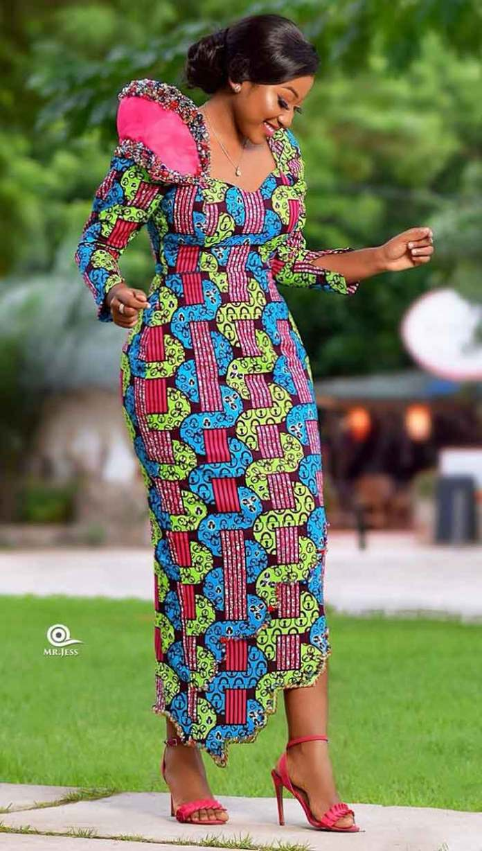 African print style dress