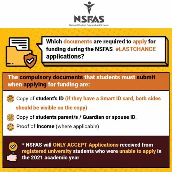 Documents Needed to Apply for NSFAS