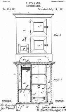 john standard refrigerator patent