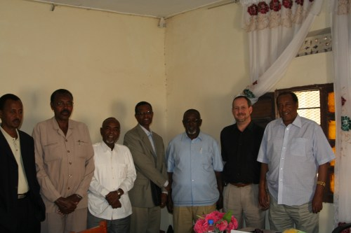 With Silanyo and Kulmiye leaders in his office