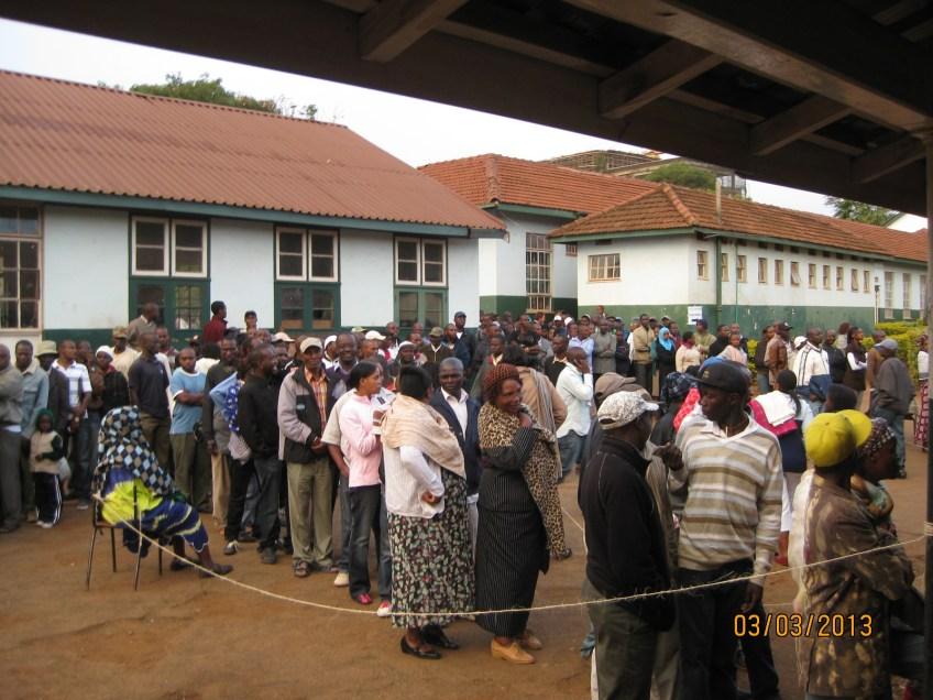 2013 Kenyan Election at Westlands Primary Nairibi