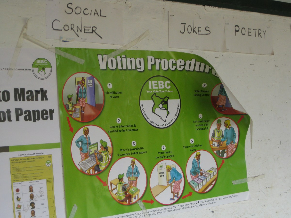 Kenya 2013 election IRI Electoral Commission voter education poster