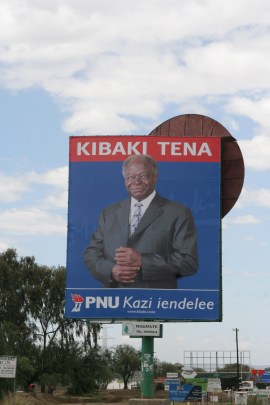 2007 Kenya election Kibaki billboard