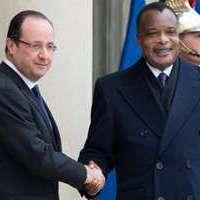 France-Congo: Tête à tête chaleureux entre Hollande et Sassou Nguesso à l'Elysée