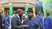 Le Président Ali Bongo Ondimba et Le PCA de la BVMAC, Henri-Claude Oyima