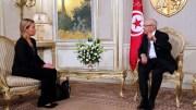 Le président de la Tunisie Beji Caid Essebsi et Mme Federica Mogherini