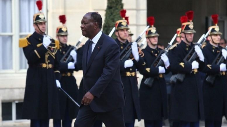 Alassane Ouattara à lElysée - Côte d'Ivoire : Alassane Ouattara s'est entretenu avec François Hollande à Paris