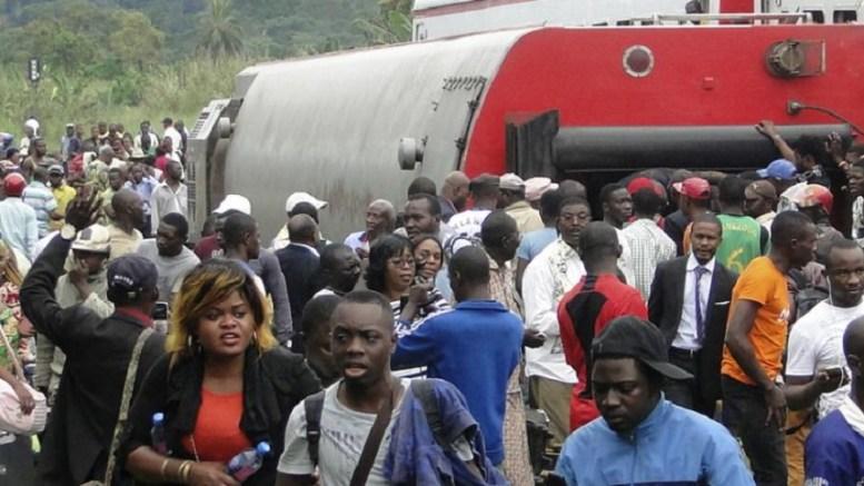 accident de train au Cameroun