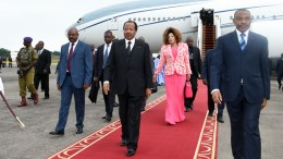Paul Biya et son épouse Chantal