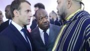 Emmanuel Macron, Ali Bongo Ondimba (milieu) et Mohammed VI