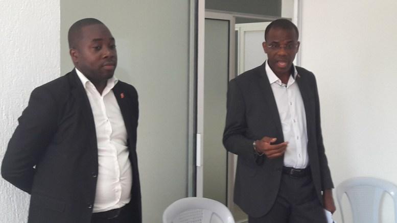 Etienne Ramba et Ancet Mvouri de UBA Gabon