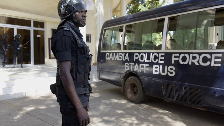 La police gambienne