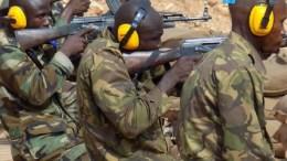 Les militaires centrafricains en formation