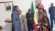 Consule Général du Sénégal à Pointe-noire face à l'Ambassadrice