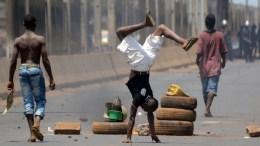 Manifestation en Guinée