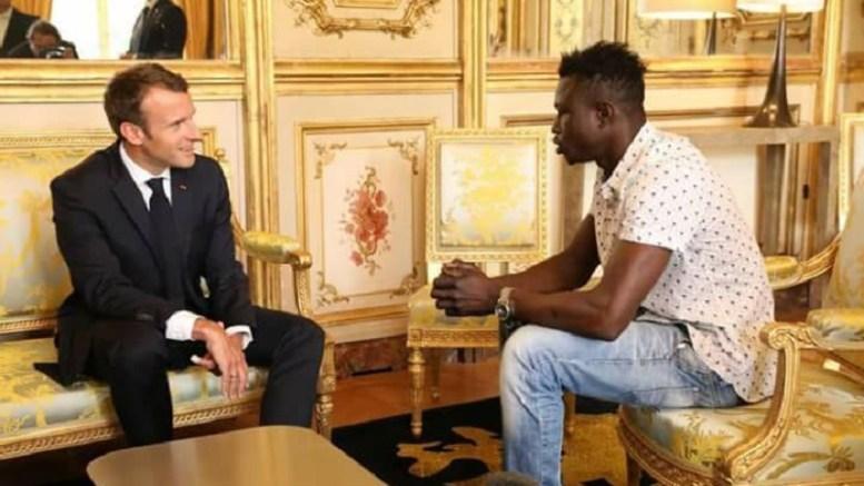 Emmanuel Macron et Mamadou Gassama